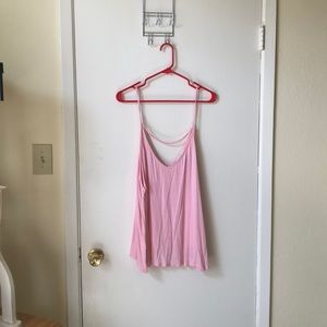 Forever 21 baby pink strappy cami